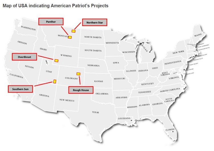 Location of AOW's projects